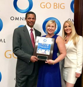 Kenton Clarke, President & CEO of OMNIKAL; Cristen Cox, Supplier Diversity Consultant at MetLife and Michelle Van Otten, Chief Marketing Officer of OMNIKAL