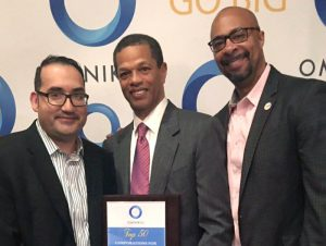 Jesse Gonzalez, Supplier Diversity at CVS Health; Raul Suarez-Rodriguez, Supplier Diversity Manager at CVS Health, and Kenton Clarke, President & CEO at OMNIKAL