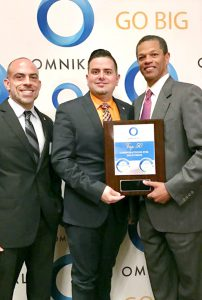 Jesse Gonzalez, Supplier Diversity at CVS Health; Raul Suarez-Rodriguez, Supplier Diversity Manager at CVS Health, and Kenton Clarke, President & CEO at OMNIKAL